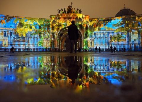 "3D mapping шоу ""День Эрмитажа. Мистерия света"", источник фото: https://vk.com/hermitage_3dmapping"