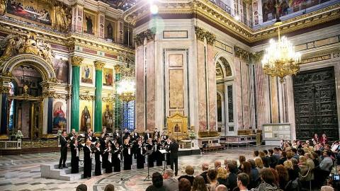 Концерт под сводами Исаакиевского собора, источник фото: http://www.kommersant.ru/gallery/3006258