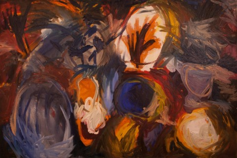 """Выставка """"Мы живые"""". Картина Ильи Брумм."""