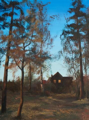 """Картина """"Закат ноября"""". Выставка петербургской художницы Лады Улитиной """"Дом земной и дом небесный"""""""