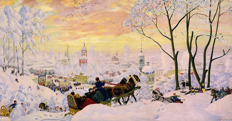"Борис Михайлович Кустодиев ""Масленица"", 1916 г. (Wikimedia Commons)"