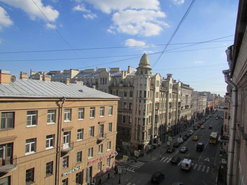 Панорама с балкона Большой пр.,, 90. Фото:  citywalls.ru