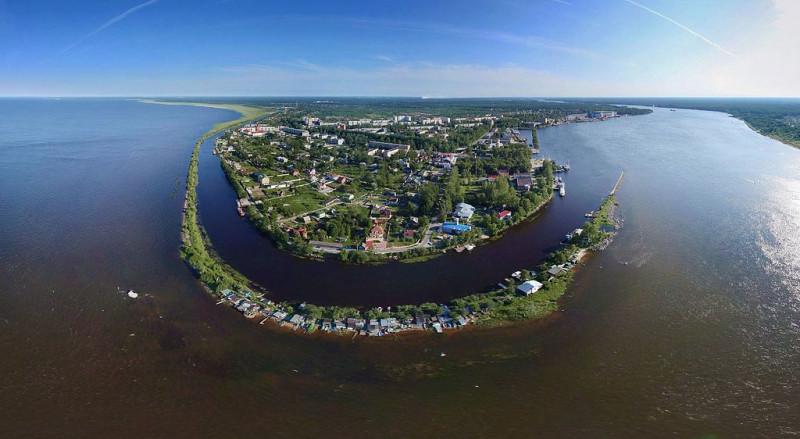 Шлиссельбург с высоты.  Фото: Nevsky shipyard