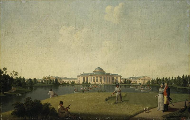 "Бенжамин Петерсен, ""Вид Таврического сада в Санкт-Петербурге"" (1797). Источник: Wikimedia Commons"