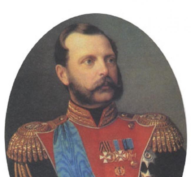 Лавров Н. А. Александр II (1818-1881) в мундире лейб-гвардии саперного батальона, 1868 г.