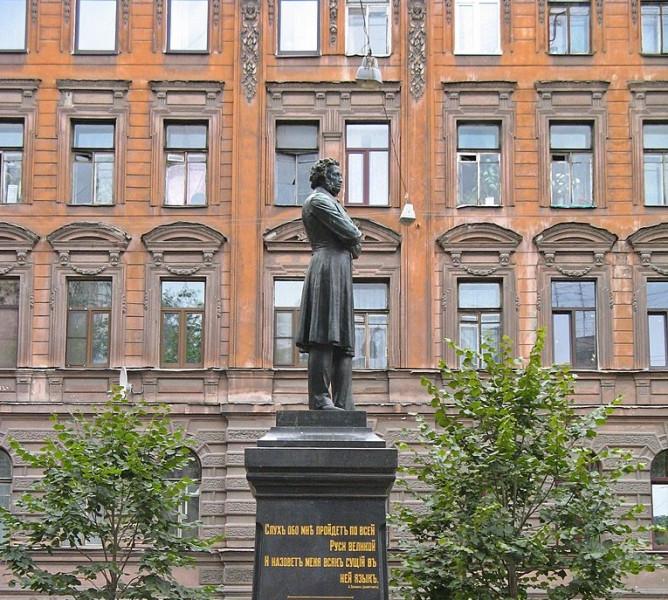 Памятник поэту Пушкину А.С.: Пушкинская улица, Центральный район, Санкт-Петербург. Фото: Екатерина Борисова