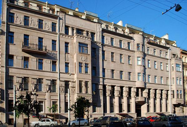 Доходный дом А. И. Нежинской. Фото: citywalls.ru