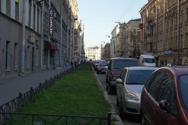Моховая улица, вид с улицы Чайковского.Фото: George Shuklin (Wikimedia Commons)