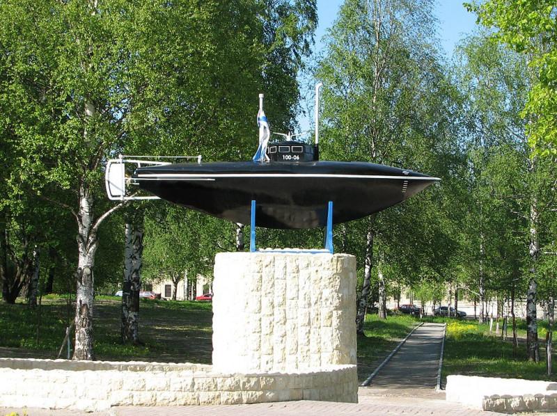 Подводная лодка Степана Карловича Джевецкого. Памятник в Гатчине. Фото: Art-top