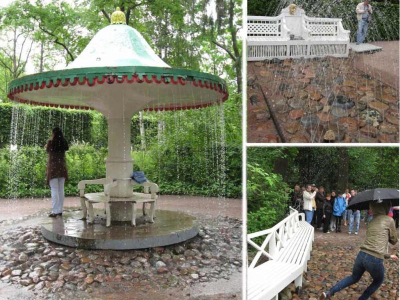 """Фонтаны-шутихи в Нижнем парке Петергофа. Фото с сайта """"Привет, Петербург"""""""