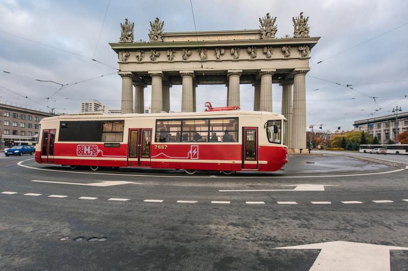 """Первый в России """"водородный трамвай"""" в Петербурге. Фото: gov.spb.ru"""