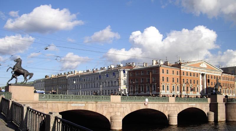 Аничков мост.  Author: Potekhin. Creative Commons