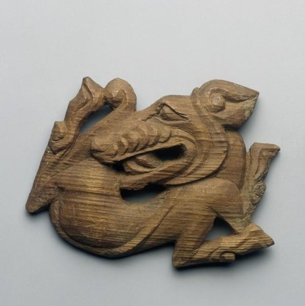 Бляха с изображением волка с вывернутым крупом, Пазырыкская культура. III в. до н.э