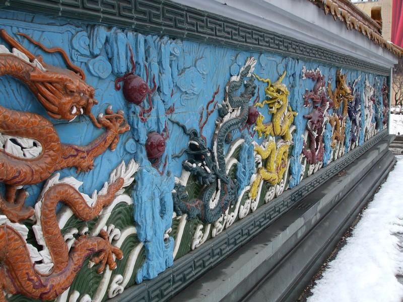 Стена 9 драконов. Автор: Lvova Anastasiya (Львова Анастасия, Lvova, Wikimedia Commons)