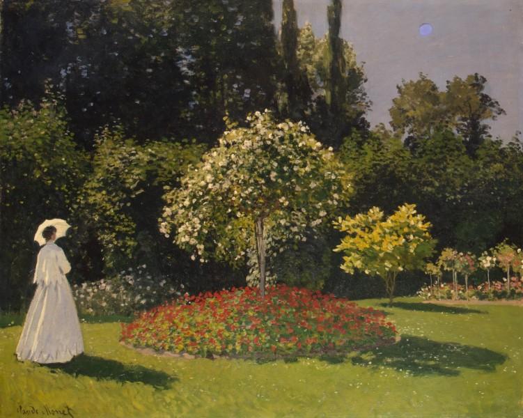 """Картина Клода Моне """"Дама в саду Сент-Адресс"""""""