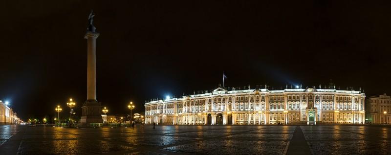 Дворцовая площадь ночью, Автор: Олег Зырянов