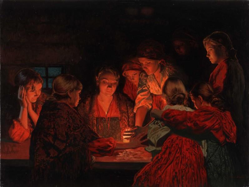 Перед Рождеством  молодые девушки гадают, источник фото: http://www.wonderfulnat