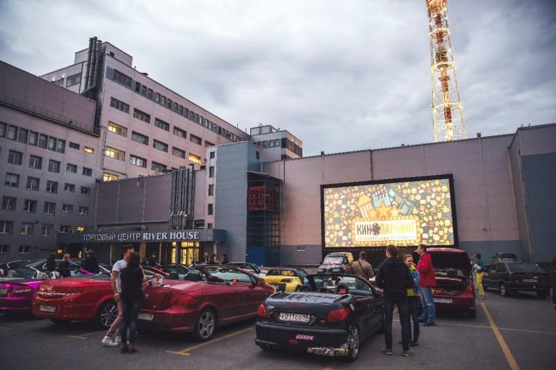 Кинопаркинг — автомобильный кинотеатр. Автор фото: Аня Анисимова