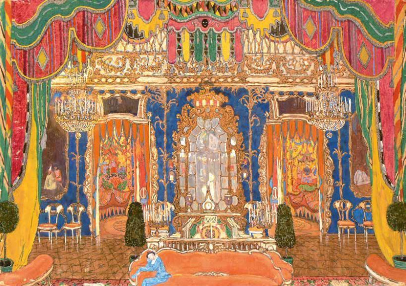 "Эскиз декораций к драме ""Маскарад"". Автор: Александр Головин Источник:  (Wikimedia Commons)"