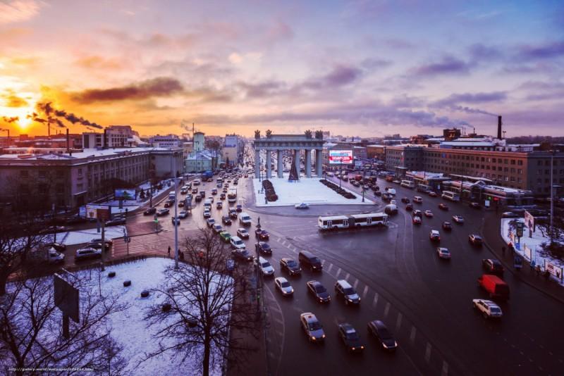 Московские ворота, движение, здание, Россия, Санкт-Петербург, Московский пр.