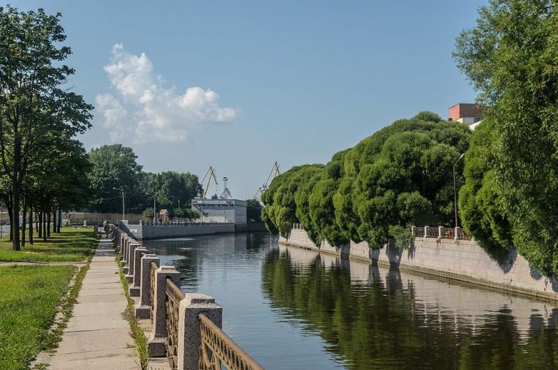 Река Мойка. Author: Florstein (WikiPhotoSpace). Creative Commons