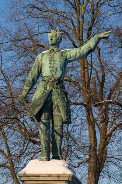 Памятник Карлу XII в Стокгольме. Король показывает в сторону России, источник фото: Wikimedia Commons, Автор: ArildV