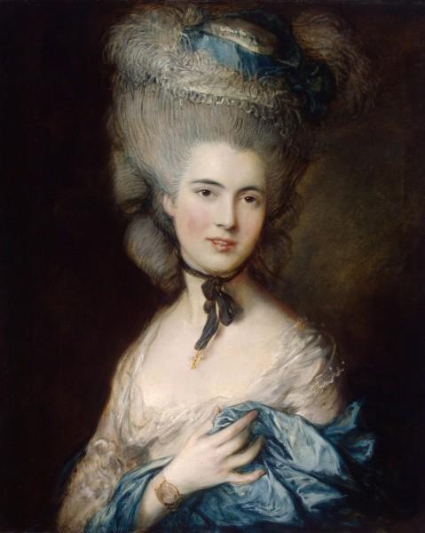 Томаса Гейнсборо, Портрет дамы в голубом, источник фото Wikimedia Commons