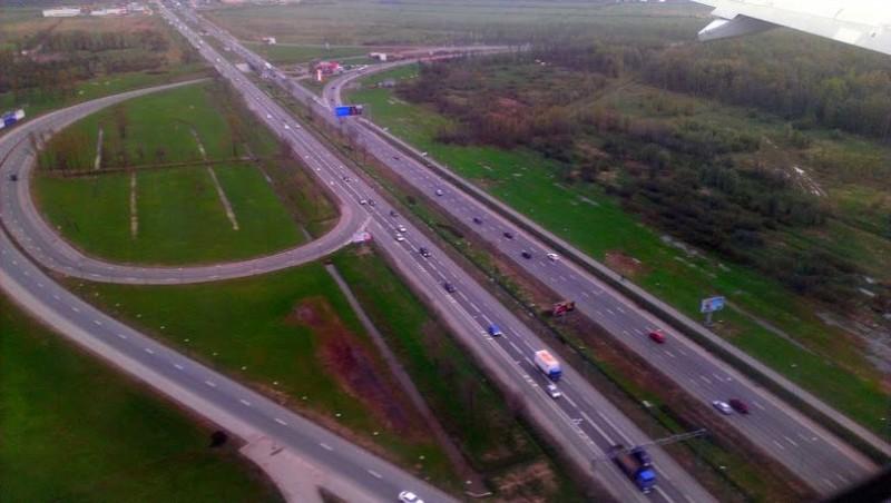 Пулковское шоссе с высоты птичьего полёта