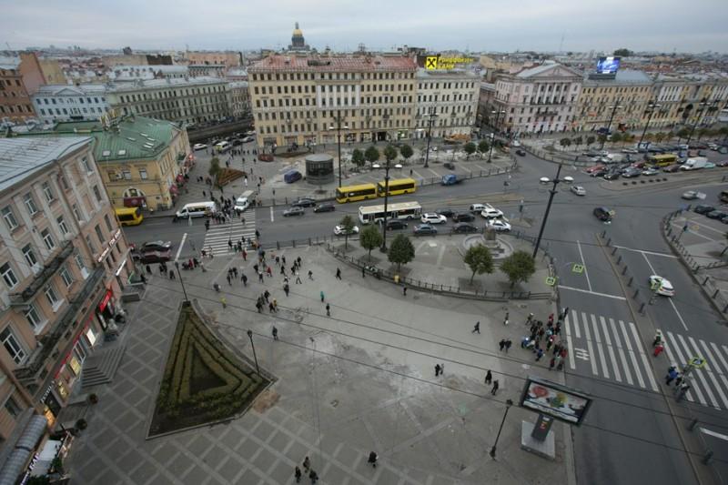 Сенная площадь после демонтажа ларьков. Фото: Антон Ваганов