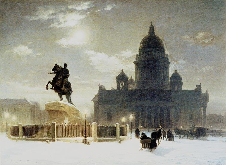 В. И. Суриков. Исаакиевская площадь. Фото: cyclowiki.org