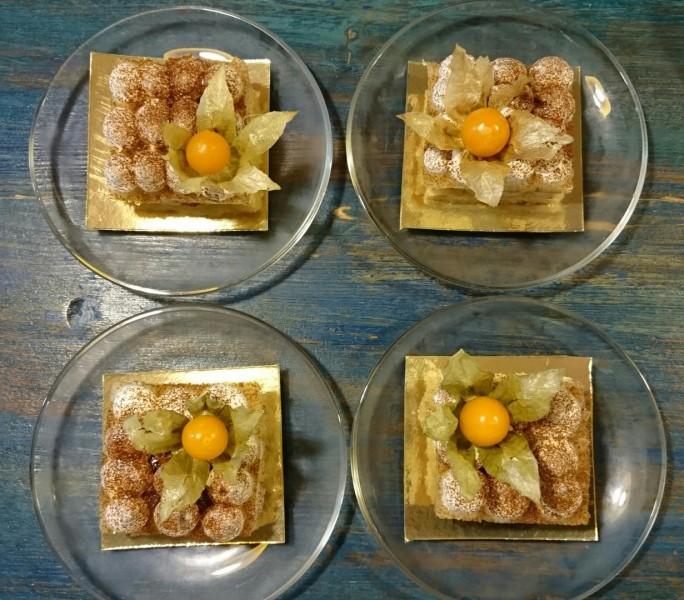 Тирамису - нежный бисквит, кофе, шоколад, соевые сливки, источник фото: https://vk.com/aurocafe