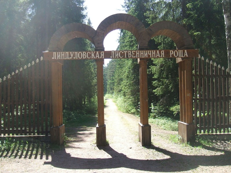 Вход в заказник Линдулова Роща, источник фото: источник фото: Wikimedia Commons Автор: Пётр Иванов
