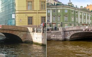 1-й и 2-й Зимние мосты.Фото: Екатерина Борисова, Alex 'Florstein' Fedorov (Wikimedia Commons)