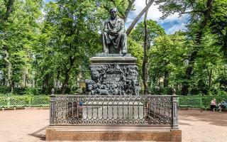 Памятник И. А. Крылова в Летнем саду. Фото: Florstein (WikiPhotoSpace)