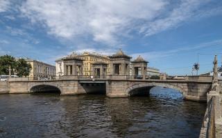 Мост Ломоносова в Санкт-Петербурге. Фото: Florstein (WikiPhotoSpace)