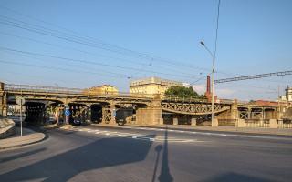 Царскосельский железнодорожный мост через Обводный канал в Санкт-Петербурге. Фото: Florstein (WikiPhotoSpace)