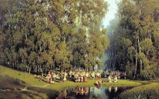 """Пётр Суходольский """"Троицын день"""", 1884 г."""
