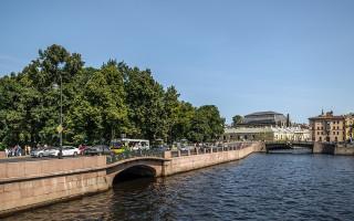 Набережная реки Мойки возле Летнего сада в Санкт-Петербурге. Фото: Florstein (WikiPhotoSpace)