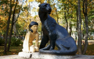 Памятник Маугли в Приозерске. Фото: ptmap.ru