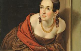 """Тропинин В. А. """"Женщина в окне (Казначейша)"""". 1841 г. Русский музей (Wikimedia Commons)"""