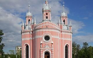 Чесменская церковь - вид с запада, источник фото: Wikimedia Commons, Автор: A.Savin