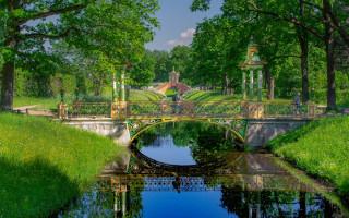 """Китайский мост в Александровском парке, ГМЗ """"Царское село"""", г. Пушкин"""