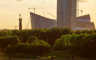Лахта центр - самое высокое здание в Санкт-Петербурге