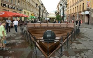 "Фонтан-каскад ""Вращающийся шар"". Автор фото: viritsa, источник: https://www.ptmap.ru"