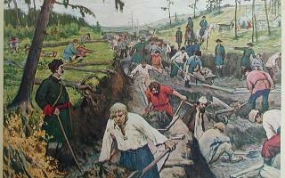 Прорытие Ладожского канала. Авторы: A.V.Moravov, Ivan Sytin - The Great Reform