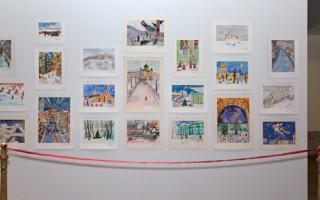 """Выставка """"Мы рисуем в Эрмитаже"""", посвященной зимнему Петербургу"""