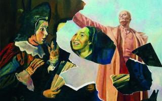 Илья Кабаков. Появление коллажа №10, 2012. Источник фото: https://iskusstvo-info.ru