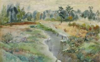 """Картина Леонида Симоновского """"Река в поле"""". Источник фото: http://obtaz.com"""