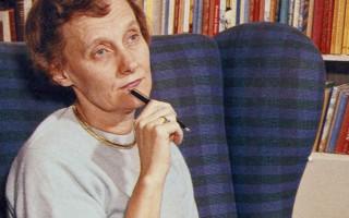 Astrid Lindgren omkring 1960 (Wikimedia Commons)