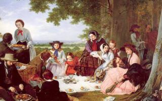 Пикник в стиле середины XIX века в Таврическом саду